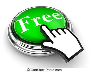 free green button and pointer hand