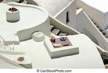 White architecture, Oia, Santorini, Greece