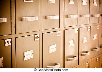 Index cards cabinet