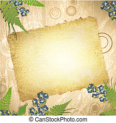 vintage grunge paper at wooden background - vintage grunge...