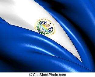 Flag of El Salvador Close Up