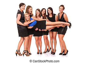 Bachelorette party - A portrait of seven girlfriends...