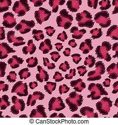 Seamless pink leopard texture pattern. EPS 8 vector...