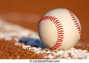 Baseball Close up on the Field