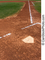 Baseball Field at Home Plate - Baseball Infield at Home...