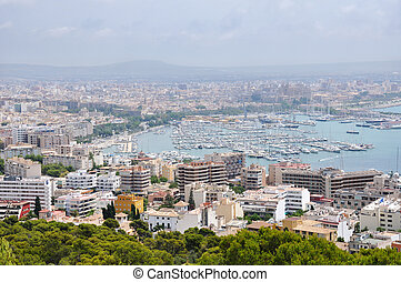 Aerial view of Palma de Mallorca - City of Palma de Mallorca...