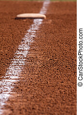 Baseball Chalk Line to First Base - Chalk Line to First...
