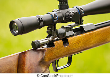 Sniper Rifle - A fragment of a rifle with telescopic sight