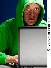 hacker portrait