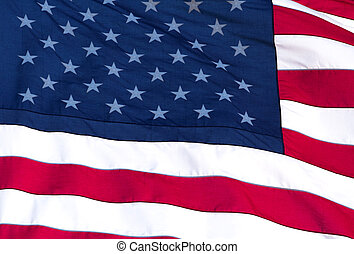 Unites States Flag - Rippled US Flag