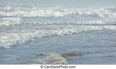 Waves - Coastal seascape with breaking waves