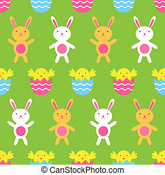 Seamless Easter vector pattern