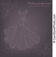 Beautiful wedding dress - Beautiful white wedding dress on a...