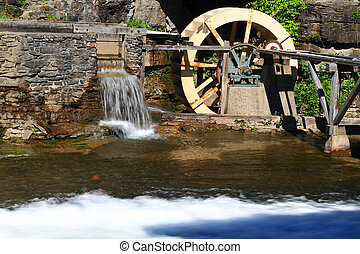Water Wheel detail from live museum. - Picture of Water...