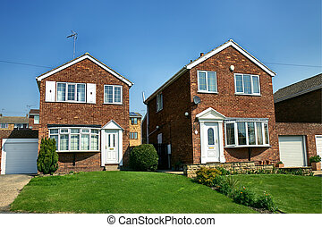 modern english brick house