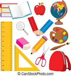 School Elements - Collection of various back to school and...