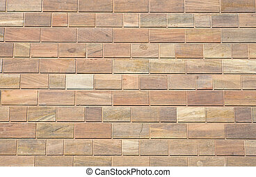 Brown sandstone wall - A background from a brown sandstone...