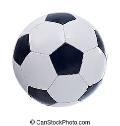 Football or soccer ball - Classic retro pentagon patches...