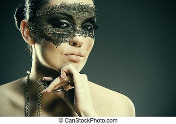 Golem. Grunge female portrait