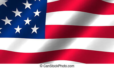 Waving flag of USA - Waving flag of United States of America...