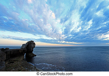 Pulpit Rock - Dorset England Pulpit Rock landscape sunset