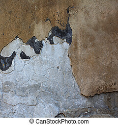 Collapsing cement wall. The background for illustrations