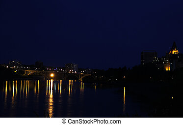 Broasway Bridge - Broadway Bridge with the The Bessborough...