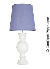 Old fashion table lamp isolated - Old fashion table lamp...
