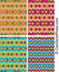 american indian pattern - editable and scalable vector...