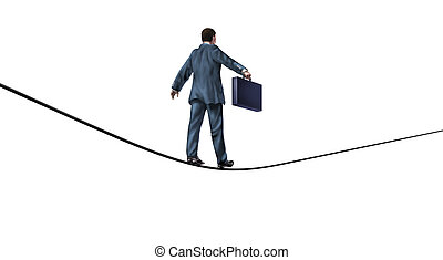 Reliability and Trust Business Symbol - Businessman with a...
