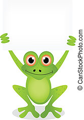 cartoon ilustration of frog 6 - vector illustration of frog