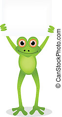cartoon illustration of frog 5 - vector illustration of frog