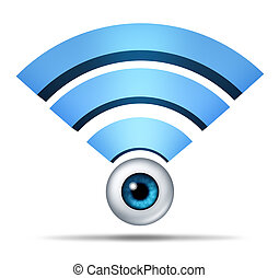 Wireless Network Security Symbol - Wireless network security...