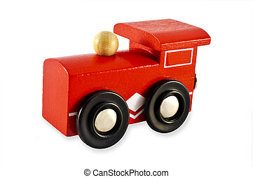 Train Engine Toy - Train Engine isolated on a white...