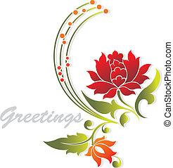 Greetings flower