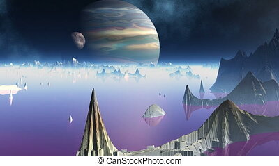 City of aliens and two planets - The strange city among...