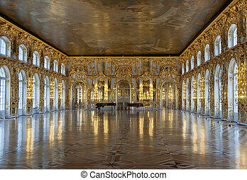 Ballrooms Catherine Palace - Katherines Palace hall in...