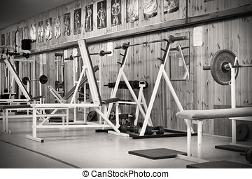 interior of an old gym