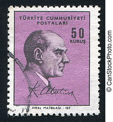 Kemal Ataturk - TURKEY - CIRCA 1967: stamp printed by...