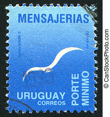 Flying Bird - URUGUAY - CIRCA 1993: stamp printed by...