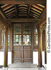 Chinese old wooden door