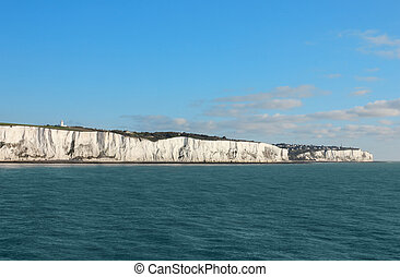 Last cliffs of the United Kingdom near Dover - Seaview shot...