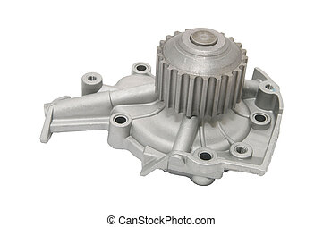 automobile Spare Parts - new car parts on a white background
