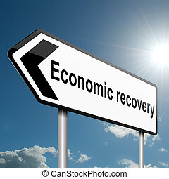 Economic recovery concept. - Illustration depicting a road...