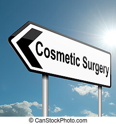 Cosmetic surgery concept. - Illustration depicting a road...