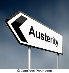 Austerity concept. - Illustration depicting a road traffic...