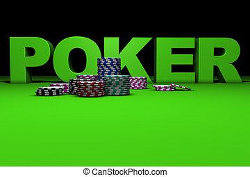 3d Poker Sign