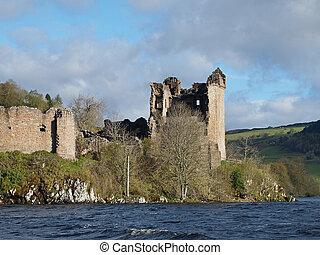 Urquhart Castle, Scotland. - Urquhart Castle, Scotland, seen...