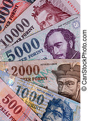 hungarian forint - These are the hungarian banknotes, this...