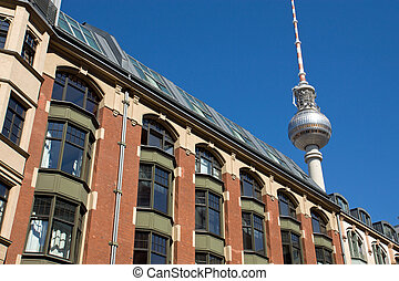 Old building with television tower - The famous television...